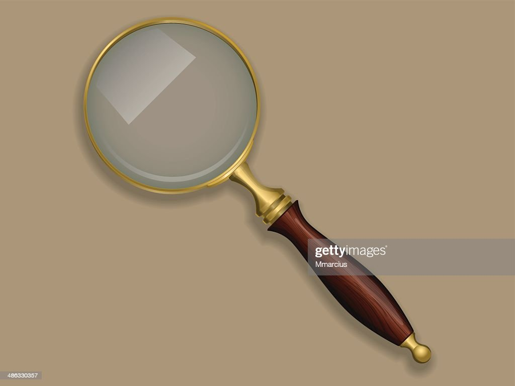 Antique magnifying glass.