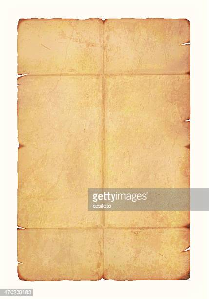 antique paper vector on white background - parchment stock illustrations