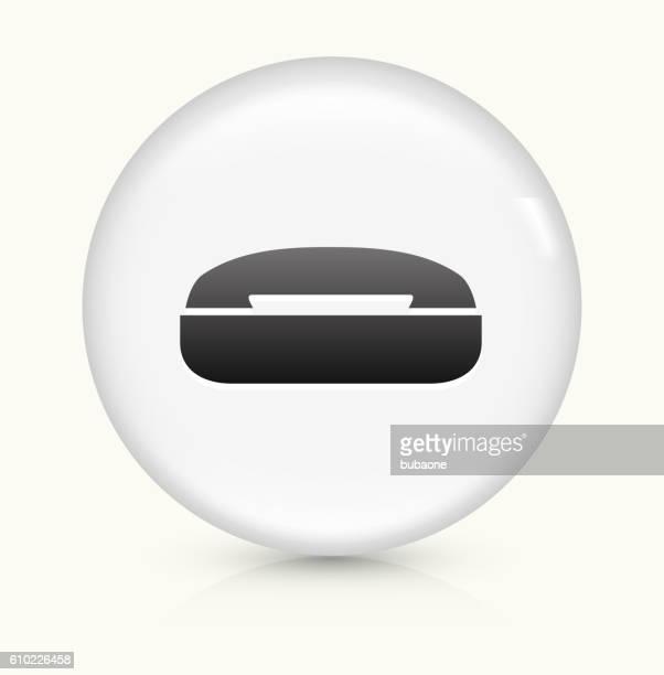 Alte Telefon Symbol auf weißer Runder Vektor Knopf