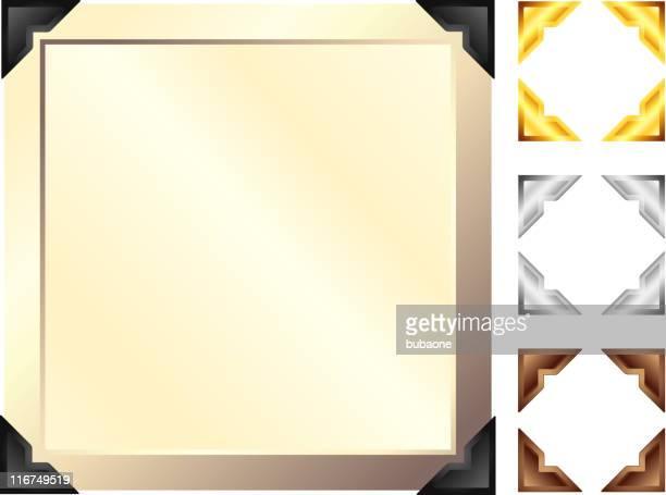 アンティークの写真フレームにダークコーナー。 - 黒枠点のイラスト素材/クリップアート素材/マンガ素材/アイコン素材