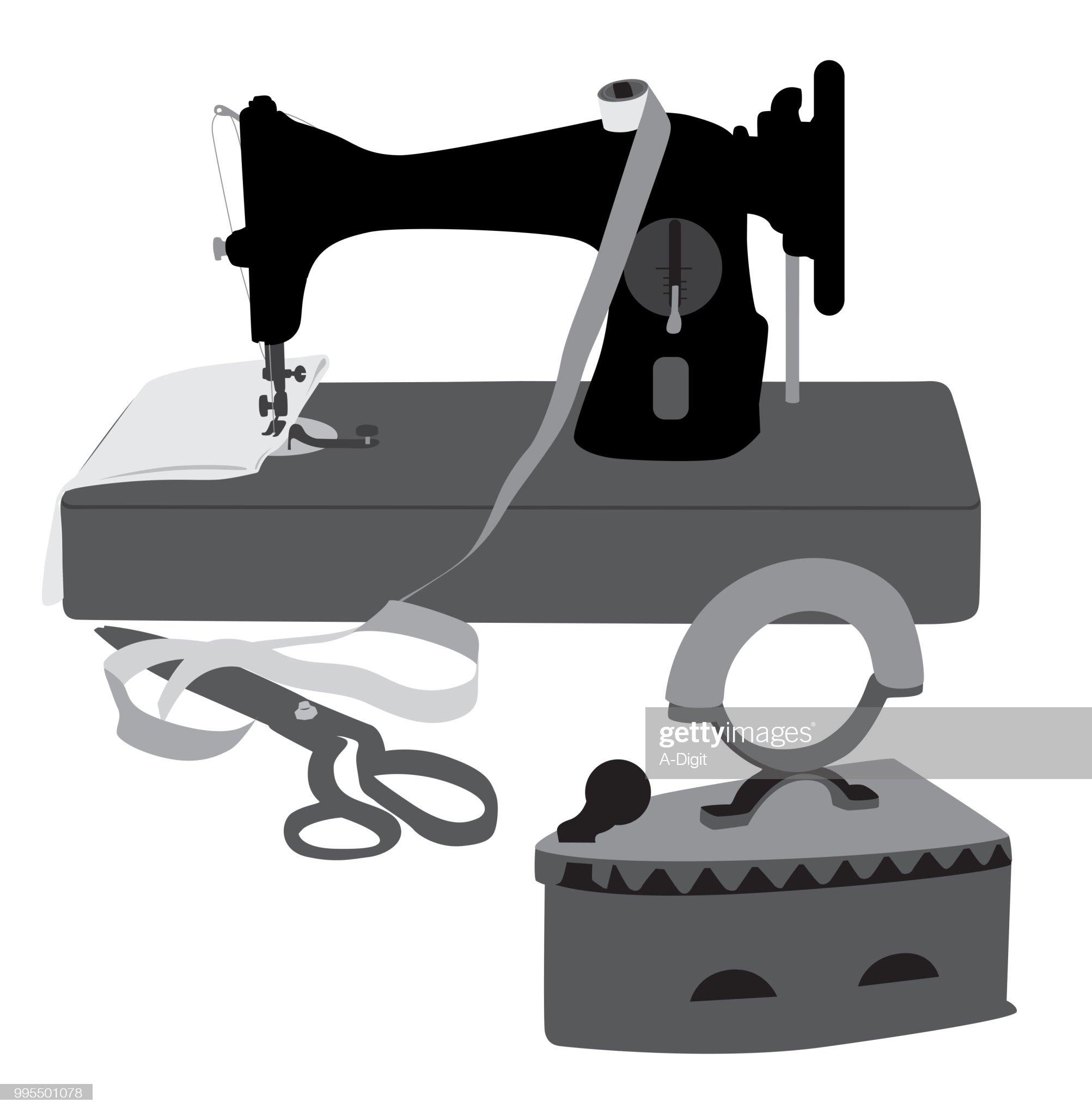 Ancienne Machine à coudre : Illustration