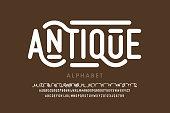 Antique style font