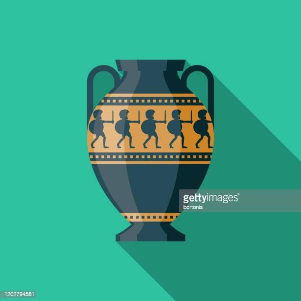 antique vase museum icon - archaeology stock illustrations