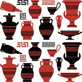 Antique vases and vessels