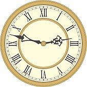 Antique wall clock.