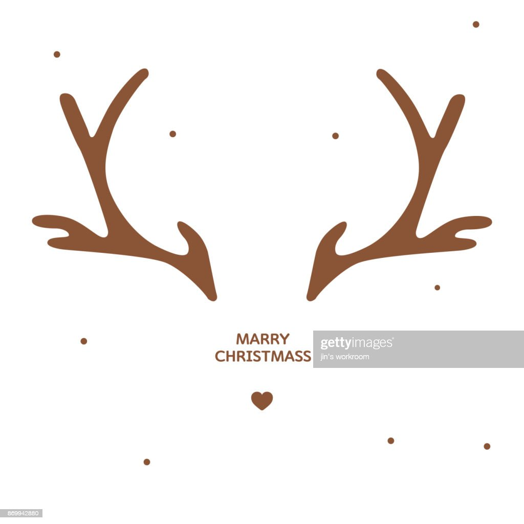 antler christmas card template