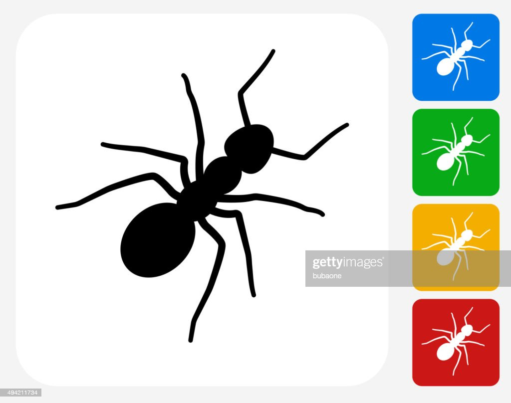Ants Icon Flat Graphic Design stock illustration - Getty Images