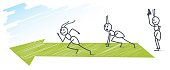 ants running 100m sprint