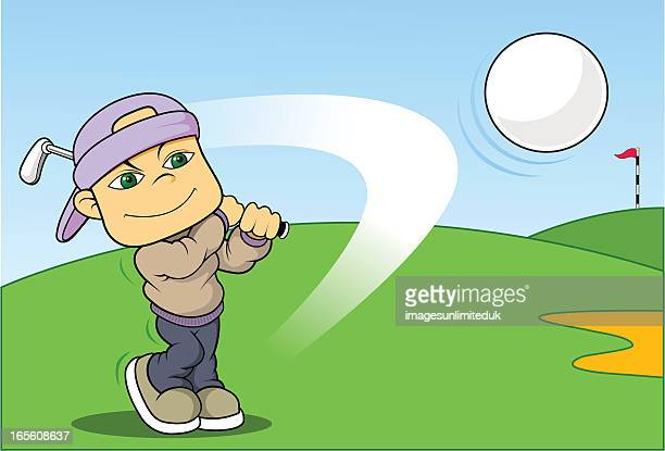 anyone for golf? - sand trap stock illustrations, clip art, cartoons, & icons