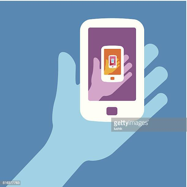 anyone holding the phone - big brother orwellian concept stock illustrations, clip art, cartoons, & icons