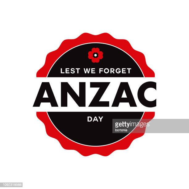 anzac day - poppy stock illustrations
