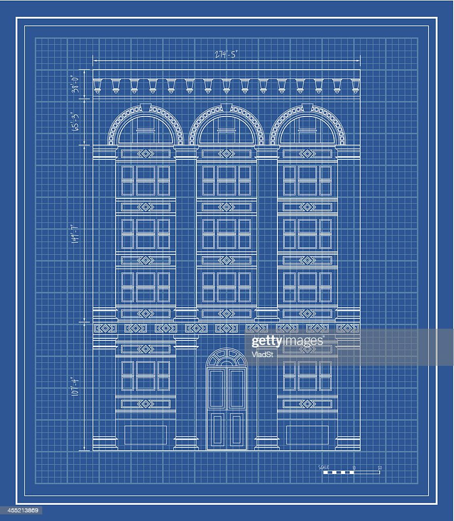 Blueprint of apartment building nice apartement apartment building blueprint vector art getty images malvernweather Gallery