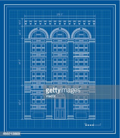 Apartment building blueprint vector art getty images malvernweather Gallery