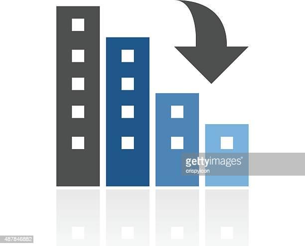 apartment-gebäude symbol auf weißem hintergrund. - gewerbeimmobilie stock-grafiken, -clipart, -cartoons und -symbole