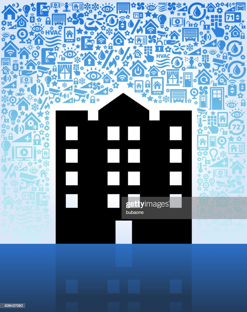 Apartment Complex On Home Automation And Security Vector Background Stock Illustration