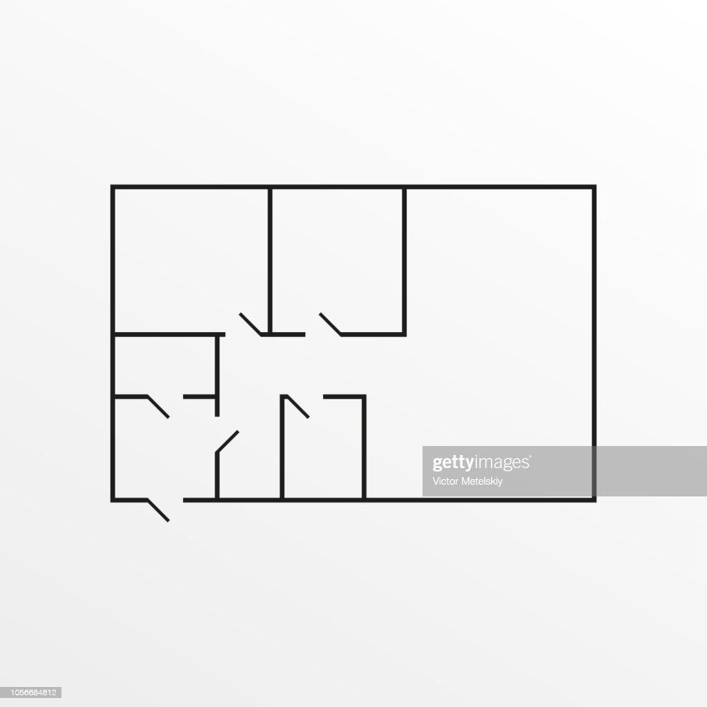 Apartment plan icon. Vector illustration.