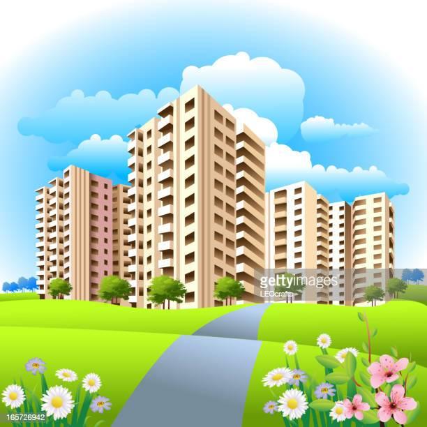 Appartements/vue sur la ville