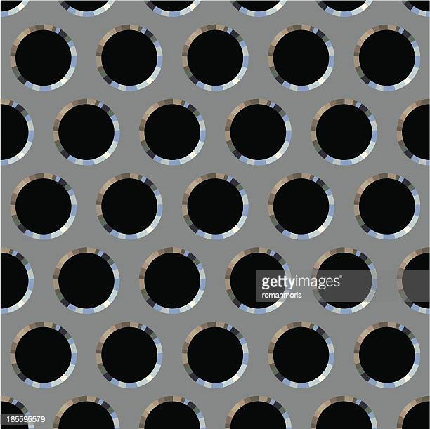 aperture screen pattern steel - sheet metal stock illustrations, clip art, cartoons, & icons