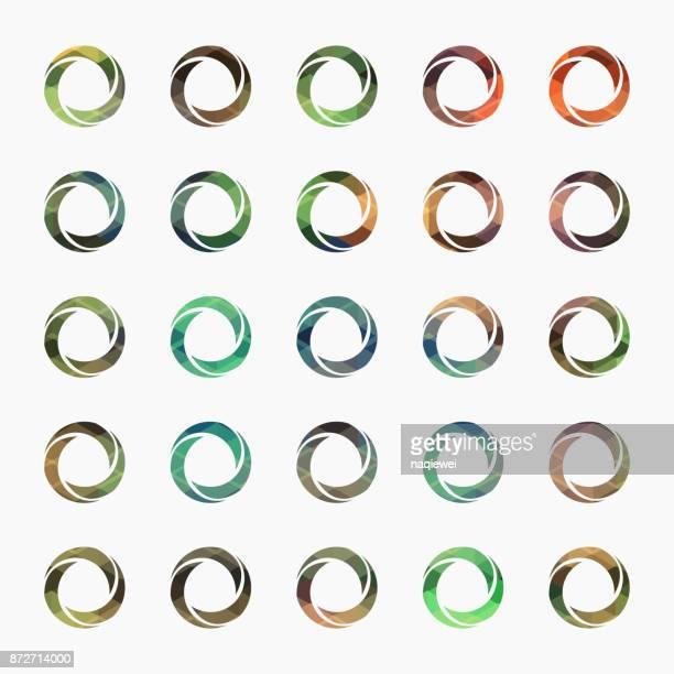 aperture symbol - circle logo stock illustrations