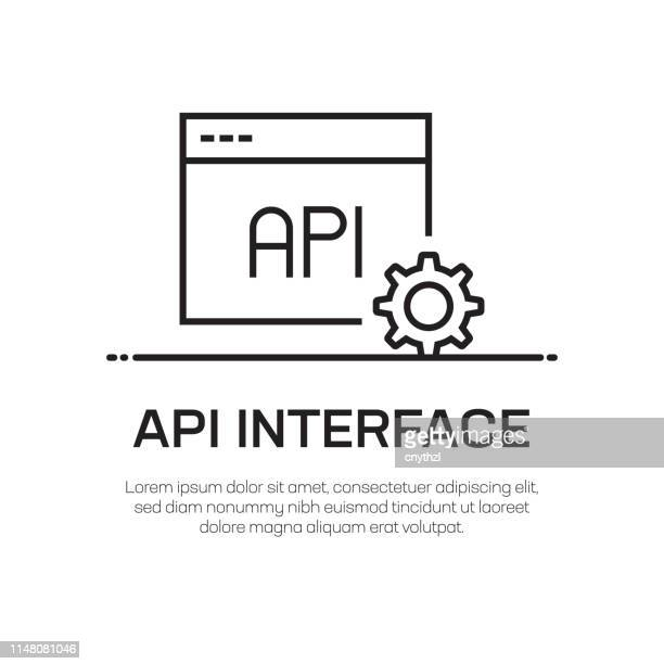 api interface vector line icon - simple thin line icon, premium quality design element - film script stock illustrations, clip art, cartoons, & icons