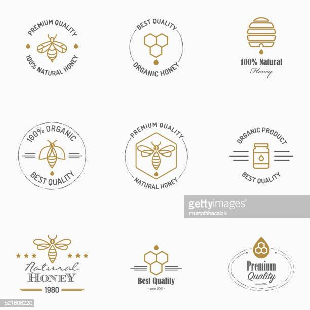 Apiculture icons with text