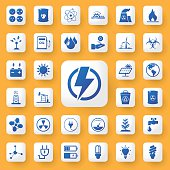App icon energy and industry sign Icons set. vector illustration
