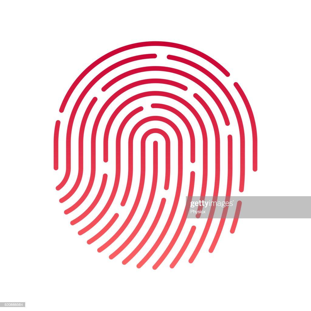 ID app icon. Fingerprint