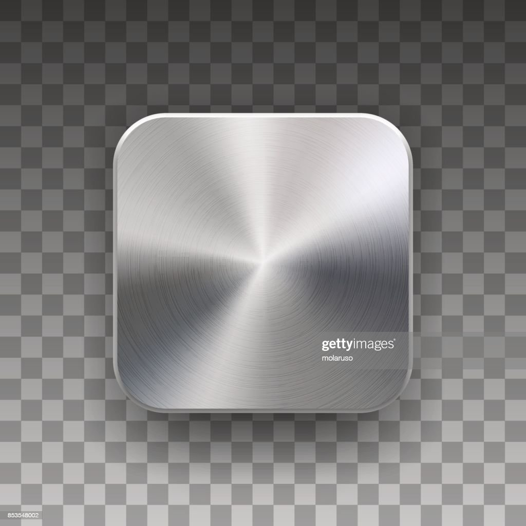 App Icon Template with Metal Texture