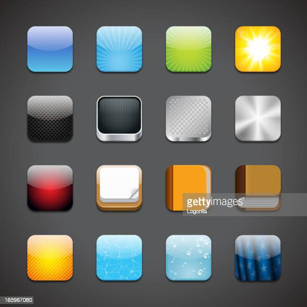 app icons - mobile app stock illustrations