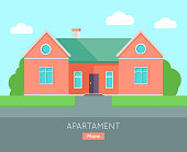 Appartment Banner Poster Template. Separete House.