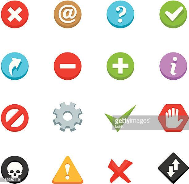 ilustrações, clipart, desenhos animados e ícones de appico ícones-interface botões - subtração