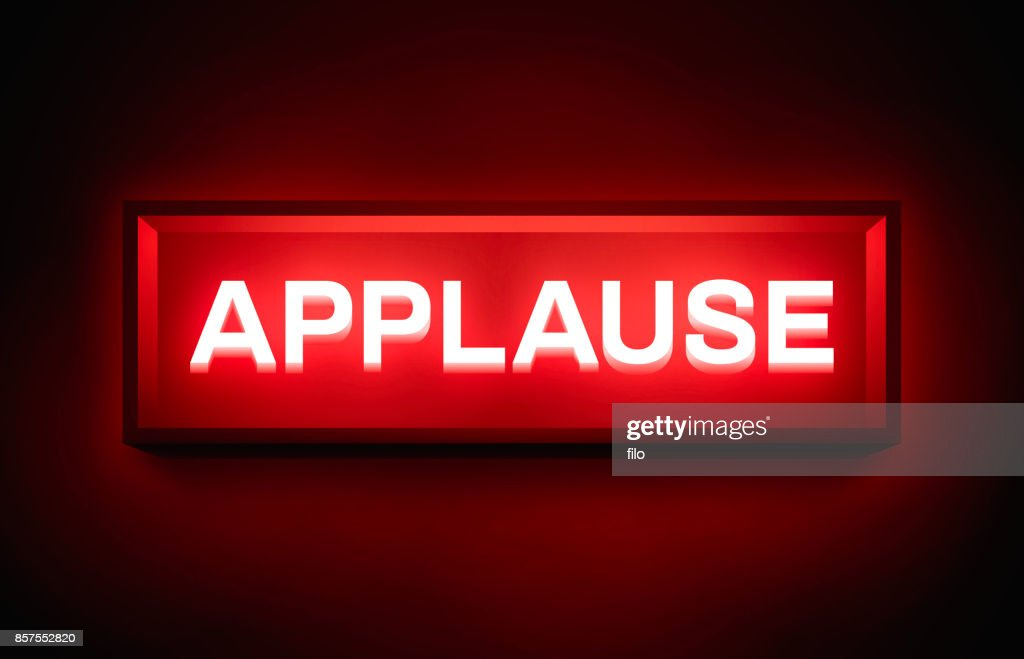 Applause Glowing Sign : Stock Illustration