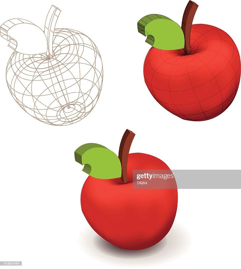 Apple 3D with edge