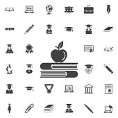 Apple and book icon
