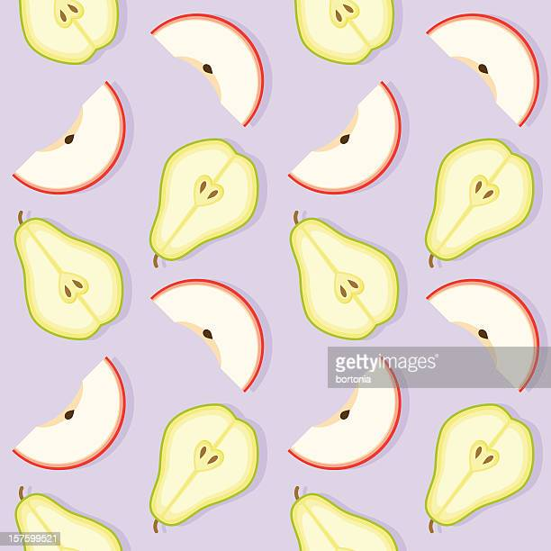 Apple and Pear Seamless Pattern