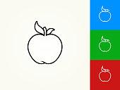 Apple Black Stroke Linear Icon