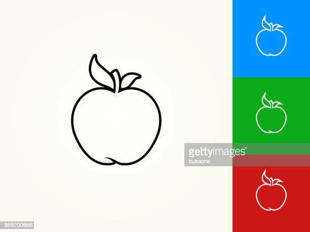 Apple Black Stroke Linear Icon