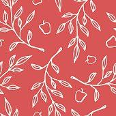 Apple branch seamless pattern