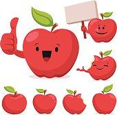 Apple Cartoon Set C