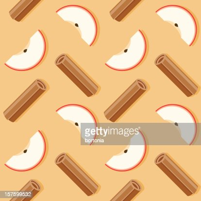 Apple Cinnamon Seamless Pattern High Res Vector Graphic Getty Images