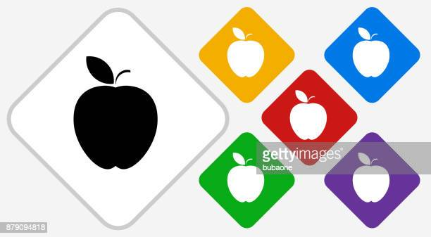 apple color diamond vector icon - juicy stock illustrations, clip art, cartoons, & icons