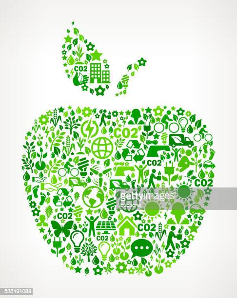 Apple Environmental Conservation and Nature royalty free vector art Pattern