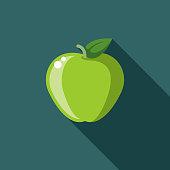 Apple Flat Design Environmental Icon