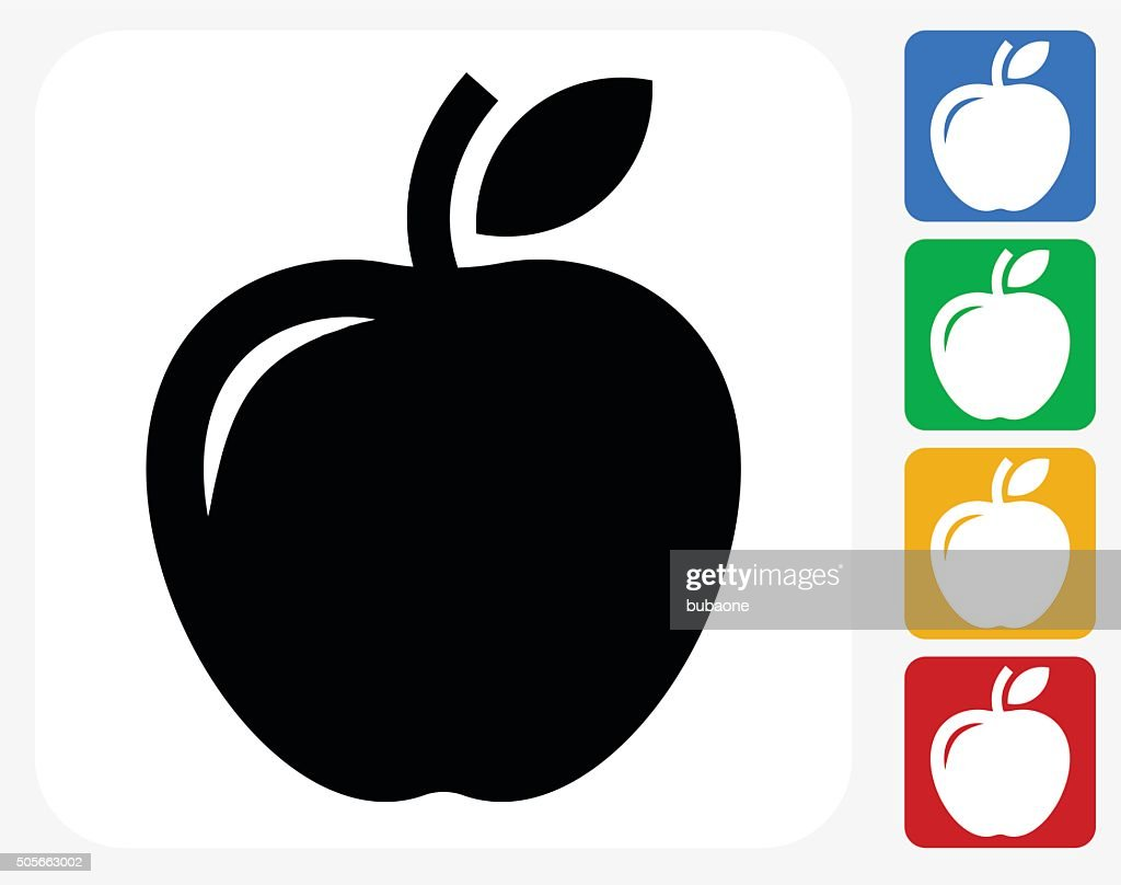Apple Icon Flat Graphic Design