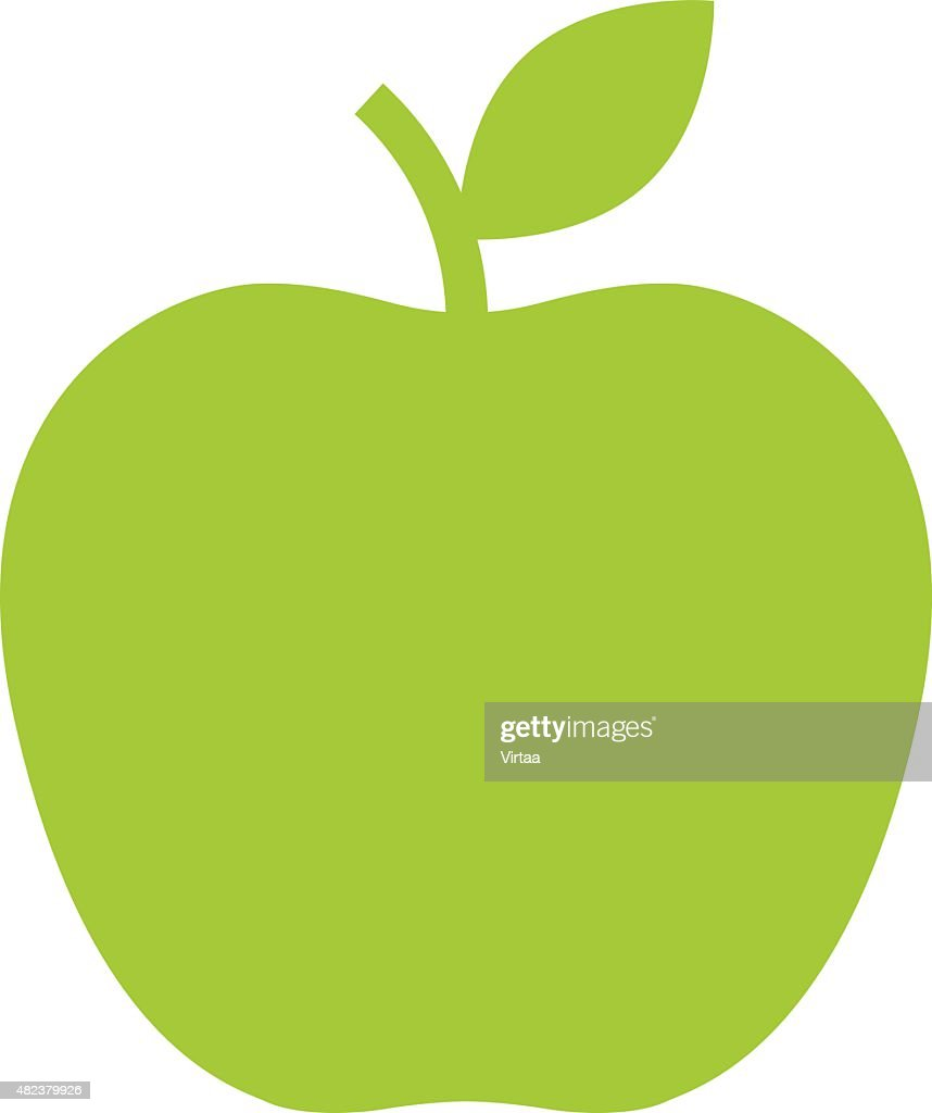 Apple icon, modern minimal flat design style. Vector illustration