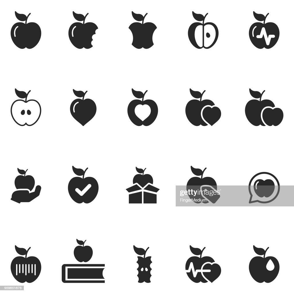 Apple-Symbol set : Stock-Illustration