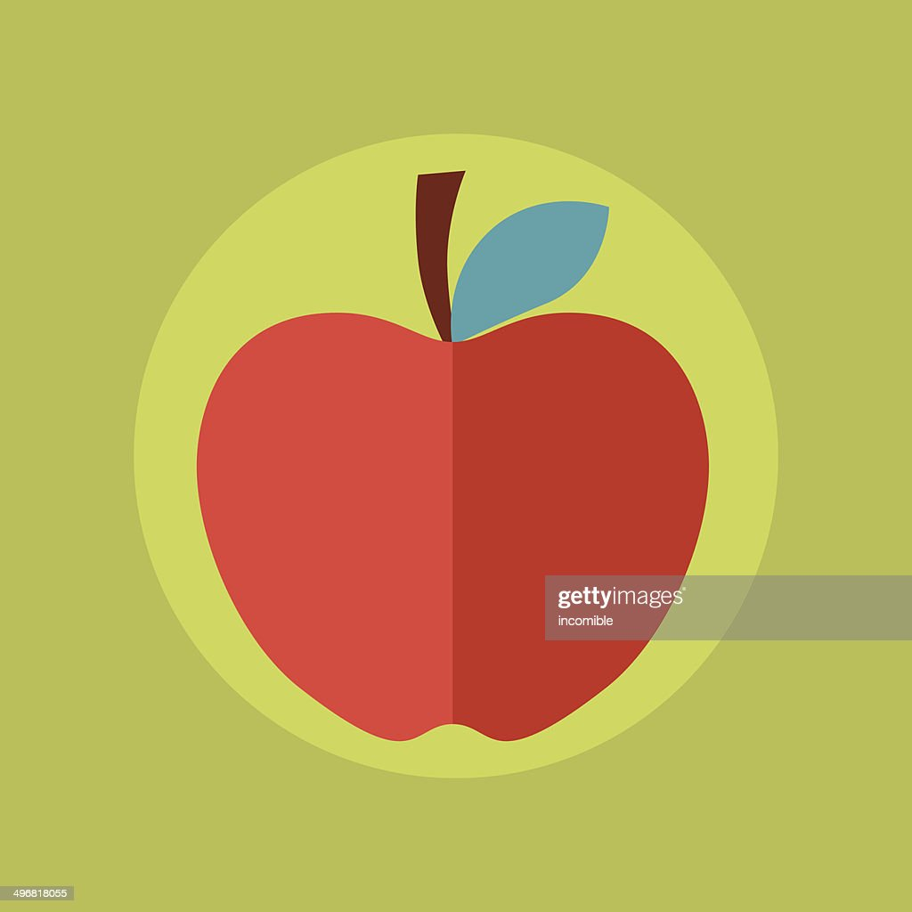 Apple idea concept illustration in flat style.