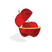 Apple in the Apple vector vector illustration