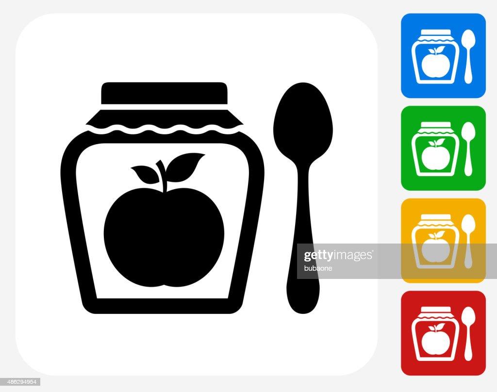 Apple Jam Icon Flat Graphic Design