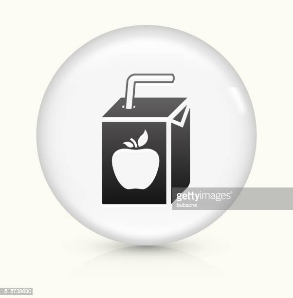 Apple Juice Box icon on white round vector button
